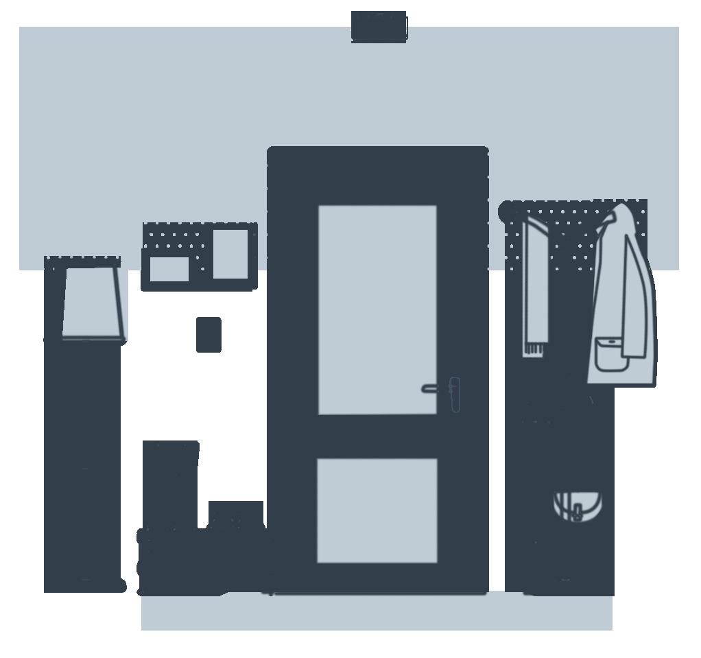 Illustration of hallway